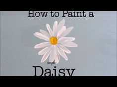 One Stroke Painting- Tutorial 8 How to paint half/folded flowers with effect Acrylic Painting Flowers, Daisy Painting, Acrylic Painting Lessons, Easy Canvas Painting, One Stroke Painting, Simple Acrylic Paintings, Acrylic Painting Tutorials, Paint Flowers, Step By Step Painting