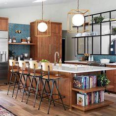 Prodigious Kitchen remodel ideas small ideas,Kitchen layout design houzz and Small kitchen cabinets for storage tricks. Rustic Kitchen, New Kitchen, Kitchen Decor, Kitchen Ideas, Vintage Kitchen, 1960s Kitchen, Narrow Kitchen, Awesome Kitchen, Beautiful Kitchen