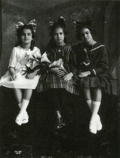 Frida Kahlo, right (age 12, 1919), captured by her Father Guillermo Kahlo.