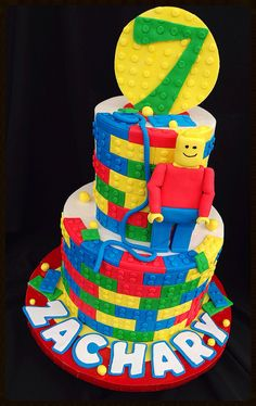 Lego cake by cakesbyashley, via Flickr