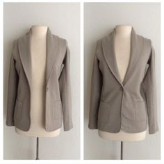 """James Perse blazer James Perse beige blazer. Brand new with tags. Size 2 which is equivalent to a M. Measures 27"""" long with a 34"""" bust. 100% cotton. This blazer is pretty thick and has stretch to it. The front has a one button closure and two pockets.  No tradesI am very open to fair offers! James Perse Jackets & Coats Blazers"""