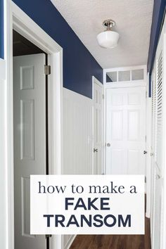 How To Make A Fake Transom Above A Door Or Window Using Mirror Tiles.  Repurposing