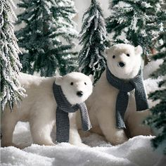 Enchant your guests this holiday season with the Sitting Polar Bear with Scarf that helps you set a festive winter scene in your home. Fir Christmas Tree, Outdoor Christmas, All Things Christmas, Christmas Crafts, White Christmas, Xmas, Christmas Villages, Christmas Carol, Christmas Lights