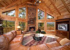 kid's+log+cabin+tent+bedroom+set | ... Mountain Views in This Huge 4 Bedroom True Log Cabin in Gatlinburg