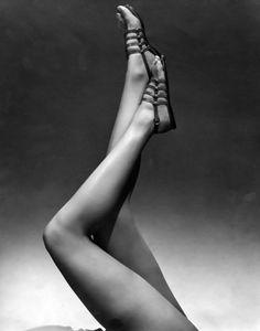 Photo by Edward Steichen, 1934, Model wearing sandals.