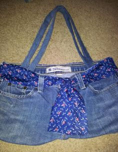 Sheryl's Crafting Corner - repourpose jeans into a quick bag
