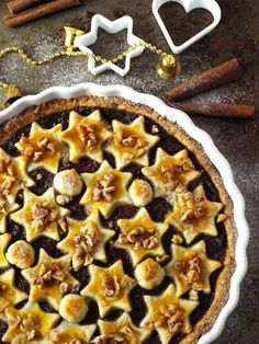 Karácsonyi fahéjas-csokoládés szilvás pite