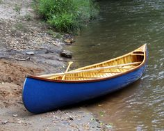 15' Custom Wood Canvas Canoe, built-to-order. via Etsy.