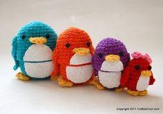 Crocheted nesting penguins. Must learn how to crochet..