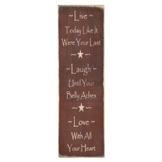 """Messenger Sign """"Live*Laugh*Love"""" Country Rustic Primitive Burgundy $21.99"""