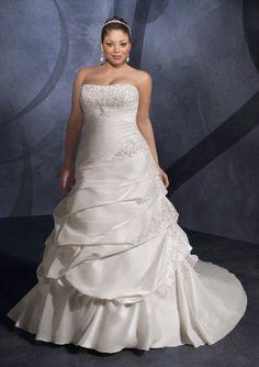 1be4dca9e60 Embroidered Taffeta Plus Size Wedding Gown  Wedding Dress
