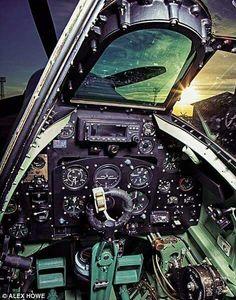 Spitfire cockpit.