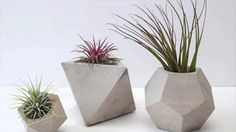 DIY Cement Planters | Cement Geometric Candle Holder! ( Pentagonal Shape) - YouTube
