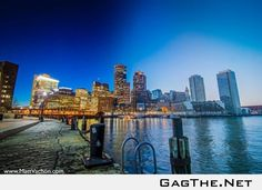 I took six hours worth of pictures and stitched them all together into one shot to show a full day in Boston.