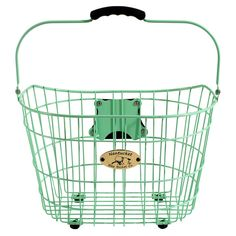 Surfside Bicycle Basket in Mint Green