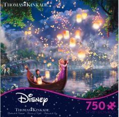 Disney's Tangled Puzzle By Thomas Kinkade -- 750 pieces!!