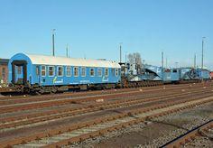 Kompletter  Bahn-Tieflader-Transportzug  der Firma Felbermayr im Bf Euskirchen - 18.11.2016