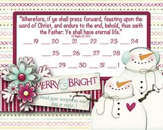 My LDS Life: Feast Upon the Words of Christ Scripture Challenge - christmas