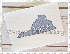 $2.95Sketch Style Virginia Home Machine Embroidery Design
