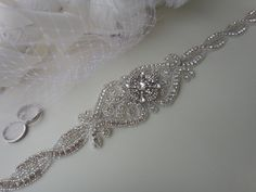 Crystal Bridal Sash Belt Rhinestone Bridal by JaimeBridalCouture