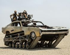 Peacemaker from 'Mad Max: Fury Road' - Photos - Mad Max cars: The post-apocalyptic rides of 'Mad Max: Fury Road' This Chrysler Valiant Charger is situated on treads, making traversing the desert terrain easier. Mad Max Fury Road, Max Movie, Movie Cars, Hot Wheels, Rat Rods, Diy Auto, Imperator Furiosa, Chrysler Valiant, Pt Cruiser