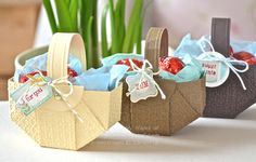 Stampin' Up! Tutorial by Vicky H at Crafting Clares Paper Moments: Easter Basket tutorial