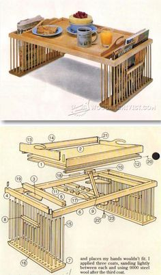 Bed Tray Plans - Furniture Plans and Projects | WoodArchivist.com