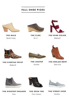 Fall Shoe Picks  |  The Fresh Exchange