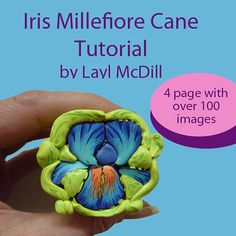 Iris Millefiore Cane Tuturial- in polymer clay by Layl McDill