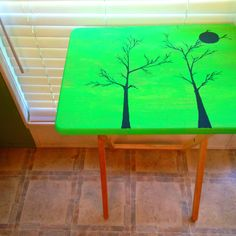 Painted TV tray....  By Heather Mooney