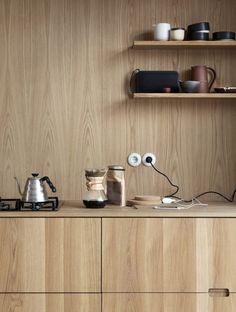 52 Best Natural Wooden Kitchen Design Ideas - Page 10 of 15 Interior Desing, Interior Design Inspiration, Interior Decorating, Interior Ideas, Kitchen Wood Design, Wooden Kitchen, Home Design, Küchen Design, Design Ideas