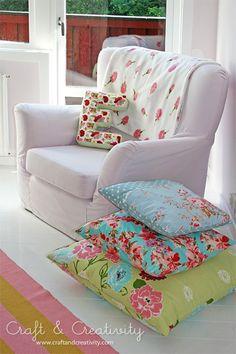 Love floor pillows for kids room