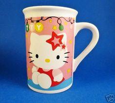 Hello-Kitty-Christmas-Coffee-Mug-Pink-Cat-Cup-Sanrio-Lights-Pink-Tree