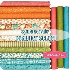 Sandy Gervais' Designer Select Fat Quarter Bundle  Sassy Collection $45