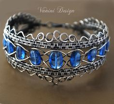 La corona - Fine argento e cianite braccialetto
