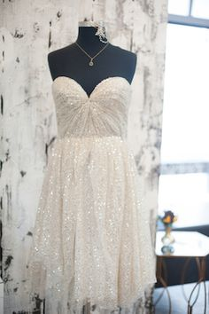 White sequins bridesmaid dress | Ali and Garrett Photography | see more on: http://burnettsboards.com/2014/07/grooms-gifts/