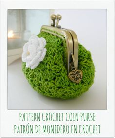 Patrón monedero flor a crochet