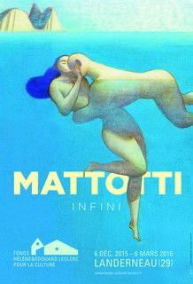 """L'affiche de l'exposition Mattotti au Capucins de Landerneau (avec l'oeuvre """"Nell'acqua"""")."""