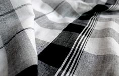 Checks Bath Towels from Kara Weaves: Fabrics with a social cause.  Handwoven in India. ty cool hunting. via Kara Weaves