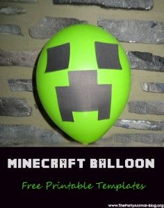Free Printable Minecraft Creeper Balloon Template via The Party Animal… Minecraft Birthday Party, 6th Birthday Parties, Boy Birthday, Birthday Ideas, Birthday Celebrations, Minecraft Balloons, Mindcraft Party, Balloon Template, Craft Free