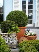 Paint house numbers on basket