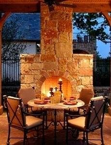 outdoor patio fireplace dining Extend the dining room