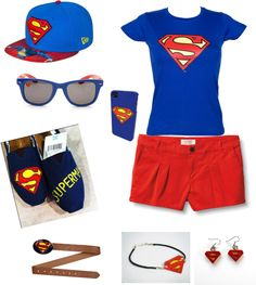 """superman outfit"" by taylorbarber20 on Polyvore"