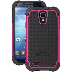 Ballistic Tough Jacket Samsung Galaxy S 4 Tough Jacket Case (black And Black And Hot Pink)
