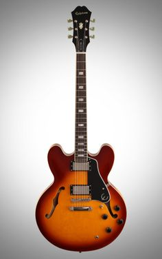 Epiphone Limited Edition ES-335 PRO Electric Guitar: Get the iconic look of a 1958-era 335 and the modern sound of Epiphone's Alnico Classic PRO humbuckers with coil-tapping. This semi-hollowbody delivers both.