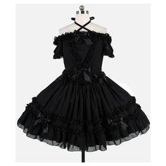 【楽天市場】ゴスロリ ロリータ ワンピース ふんわりベアトップワンピ ゴシック パンク ゴシック&ロリータ クラシカル クラロリ... ❤ liked on Polyvore featuring dresses, lolita, goth, short dress, gothic lolita dress, gothic mini dress, gothic dress, mini dress and goth mini dress