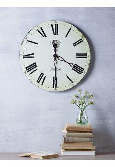 distressed vintage clock indoor living