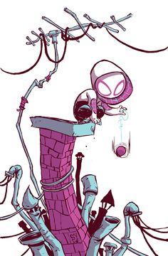 Ormai siamo abituati a vedere i nostri supereroi preferiti trasformati in chiave bambinesca dal genio di Skottie Young - http://c4comic.it/2015/01/12/spider-gwen-1-la-variant-di-skottie-young/