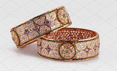 Golden Bangles by Kailash Kumar on Cuff Bracelets, Bangles, Gold Jewelry, Jewellery, Desi, Fashion Beauty, Jewels, Female, Gold Jewellery