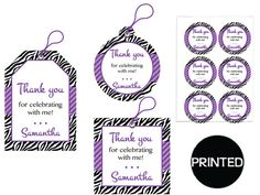 Printed Beautiful Purple Zebra Themed Adult by EBDesignAndPrint
